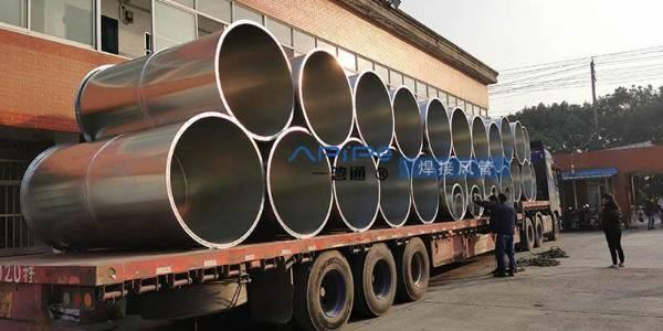 发货发货,焊接风管发往浙江桐乡,用于通风环保工程上使用
