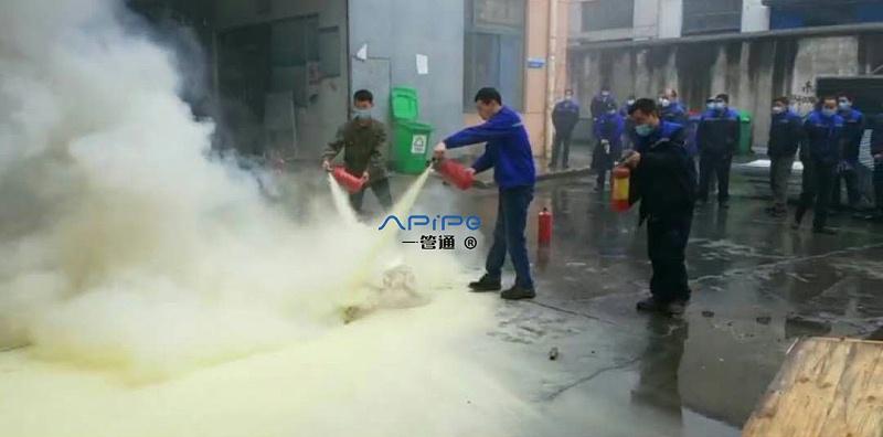 防患于未然,【一管通】通风管道公司组织员工开展应急消防演习