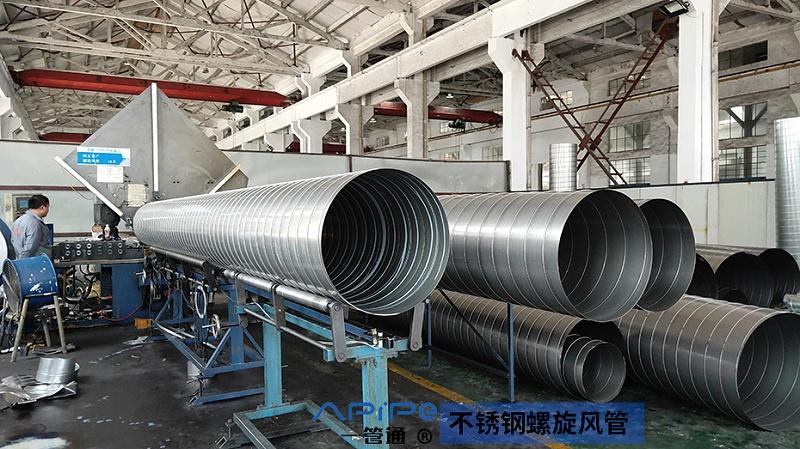 无锡一管通通风管道厂家告诉您:螺旋风管堵塞怎么处理?