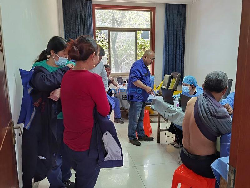无锡一管通通风管道制造公司组织员工集体接种新冠疫苗