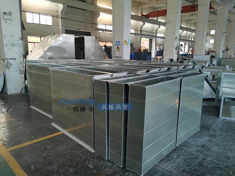共板风管装车发货江阴,用于地下车库通风与消防排烟工程