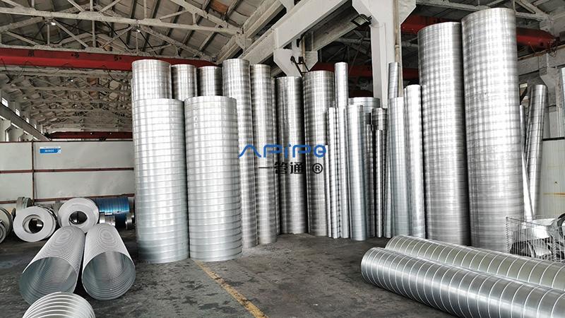 一管通螺旋通风管厂家介绍关于螺旋通风管的各种优点
